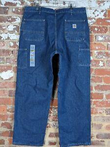 NWT Carhartt FR Flame Resistant FRB13 Mens 40x32 Denim Dungaree Jeans Original