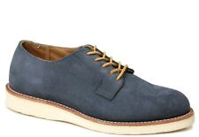 Red Wing 3108 Postman Oxfords Blue Grey Suede Made in USA Mens 7 D Work Shoe NEW