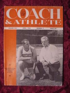COACH And ATHLETE Magazine April 1963 Payton Jordan Dave Weill Stanford