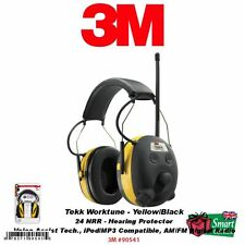 3M Tekk-Peltor Worktunes Hearing Protector-NRR: 24dB, iPod/MP3 Compatible #90541