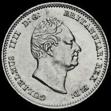 More details for 1837 william iv milled silver fourpence / groat