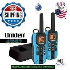 UNIDEN Long Range Waterproof Rechargeable Two Way Radio Walkie Talkies 40 MILE 2