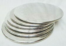 6 ORNATE 20cm SILVER PLATE PLACEMATS or COASTERS - Queen Victoria Brand with box
