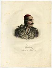 Antique Master Print-PORTRAIT-NICETA-GREECE-Boggi-Senefelder-ca.1826