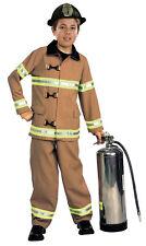 Kids Fireman Firefighter Costume Child Size Small 4-6