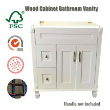 "New White shaker Single-sink Bathroom Vanity Base Cabinet 36"" W x 21""D x 32"" H"