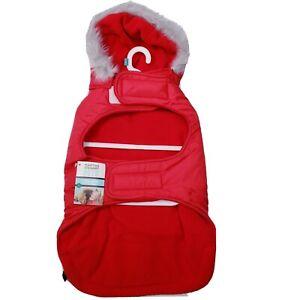 Martha Stewart Pets® Red Hooded Puffer Jacket Size XL New