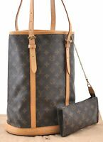 Authentic Louis Vuitton Monogram Bucket GM Shoulder Bag M42236 LV 92557