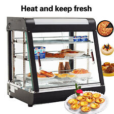 3 Tiers Commercial Food Pizza Warmer Cabinet Counter-top Heated Display Case