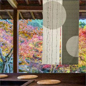 Japanese Noren Door Curtain Room Doorway Divider Drapes Green Two Circle Print