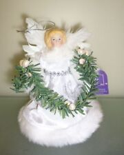 15cm Tree Top Christmas Angel in white (PM69))