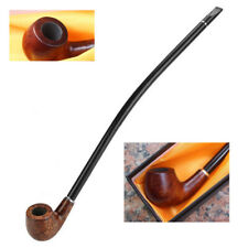 Long Wooden Wood Tobacco Smoking Pipe Cigarette Cigar Pipe Churchwarden With Box