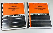 HARRY MASSEY FERGUSON TO-30 TO-20 TE-20 TRACTOR SERVICE REPAIR PARTS MANUAL BOOK