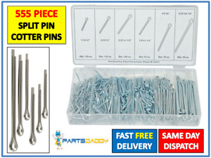 555 PC Assorted Split Pin Cotter Pins Popular Sizes Fixings In case Pieces 4-27