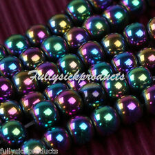 1 Strand Colorful Magnetic Hematite 4mm Round Loose Beads Jewelry Making DIY