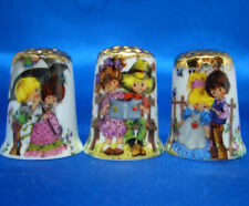 Birchcroft Thimbles -- Set of Three  -- Gold Top Young Love ( Make Offer )