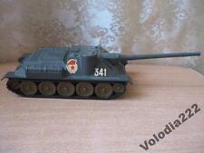 Vintage Soviet USSR Original Diecast SU-100 Tank Metal model