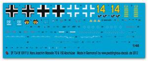 Peddinghaus-Decals 1/48, 0734 - Bf 109 F Hans Joachim Marseile Africa