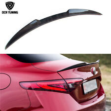 For Alfa Romeo Giulia Quadrifoglio Verde QV Style Carbon Fiber Rear Spoiler 15 +