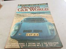 Aug 1968 SPORTS CAR WORLD Mag BROLGA , BMW 2002 , Triumph SPITFIRE Torana GT
