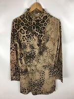 LAURA T. COLLECTION Shirt, Longshirt, Animal Print, Größe M (40/42)