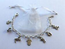 Bracelet Baby Shower  Mum to Be, New Mummy charm girl boy christening boy/girl