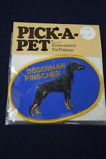 Embroidered SEW ON Patch DOBERMAN PINSCHER Dog PICK-A-PET *FREE SHIP IN USA*
