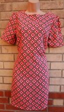 PRIMARK NEON PINK YELLOW BAROQUE SPOTTY SHIFT TUNIC TUBE CAMI TEA DRESS 10 S