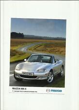"MAZDA MX5 ORIGINAL PRESS PHOTO 2003 "" BROCHURE  RELATED""   2 OF"