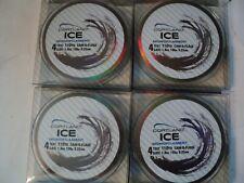 4- Spools Of Cortland Ice Line 4 Lb Test Camo (Nip)