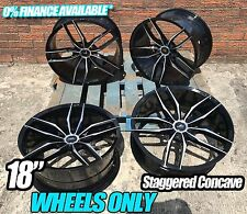18'' BLK POL ALLOY WHEELS BMW CSL F10 313 STYLE FOR 3 SERIES 5 SERIES CONCAVE
