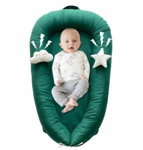 Baby Nest Sleeper, Crib Bassinet Portable Infant Lounger with Toy, 0-18 Months