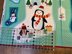 Christmas Stocking panel (1618) 15in wide x 23in length approx (when finished )