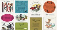 PLAYBOY'S CHRISTMAS CARDS from DECEMBER 1964 Issue cardstock ribald RARE!
