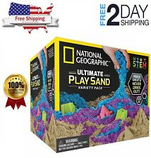 Free Shipping! 6lb National Geographic 3 Multi-Color Kinetic Sensory Sand, New!