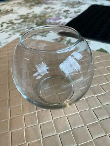 Rose Bowl - Small Glass Round Vase for Weddings, Events, Decorating, Arrangement