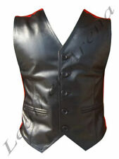 Unbranded Leather Casual Regular Size Waistcoats for Men