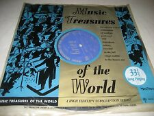 MUSIC TREASURES OF THE WORLD DEBUSSY STRAUSS GRIEG LP VG+ MT-208