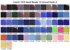 Czech 10/0 Rocaille Glass Seed Beads 12-strand Hanks 2 Preciosa