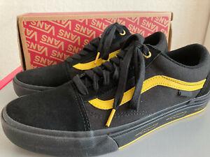 Vans x Larry Edgar Old Skool Pro BMX Black Yellow Size 11.5 Men's New With Box