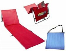 NEW RED pieghevole regolabile esterno giardino sole reclinabile a Chair MAT