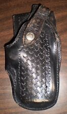 VINTAGE! S & J CO Renton, WA Basketweave Leather Holster Size 7   1