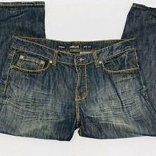Helix  Mens  Straight  Denim Blue Jeans Size 36W  32L Distressed