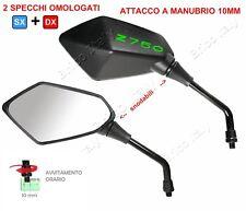 Specchi specchietti retrovisori Kawasaki replica con logo Z750 verde Omologati
