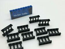Lego ® 10x, rejilla valla, barrera - 1x4x2 negro - 30055-Black Fence
