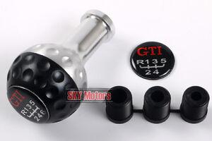 GTI 337 20 Anniversary Golf Ball Shift Knob Manual transmission 5 6 Speed Black