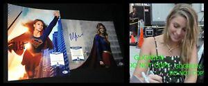 Melissa Benoist signed 11x14 photo Supergirl poster CW sexy hot Kara Denvers BAS