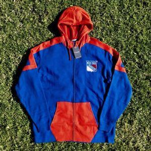 NEW YORK RANGERS Fanatics Full Zip Hockey Hoodie NHL Sweatshirt - Mens Size 2XLT