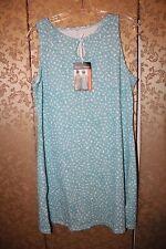 Nuu Muu NWT Blue Geen White Multi-Color Sleeveless Tunic Active Dress Large L