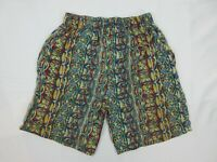 Vintage Mens Board Shorts Size S Beach 90s Bright Loud Mambo Festival Surfing